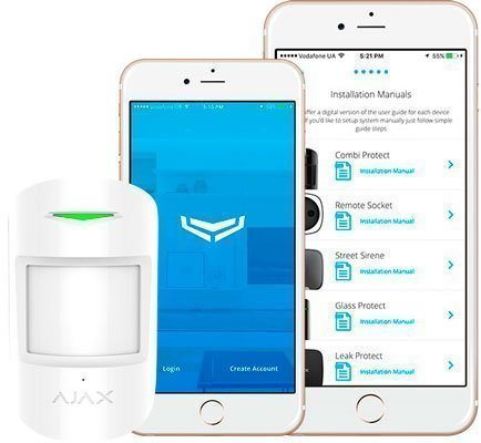 conexion alarma inalambrica ajax app